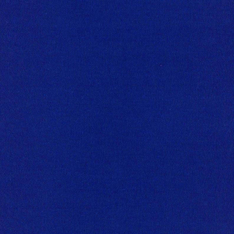 ROYAL BLUE Cotton Interlock Knit Fabric, FQ 18 x 29