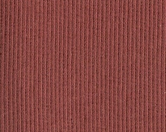 Flawed BRICK RED 2x1 RIBBING, Cotton Lycra blend, Fat Eighth, 9 x 21 inches