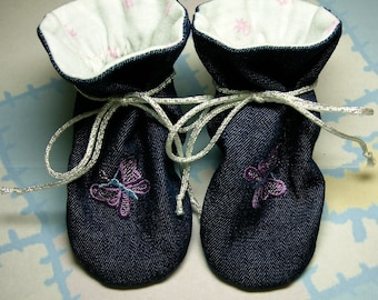 """Terra Verde, """"TV"""" Baby Bootie Bootee """"Physical"""" Sewing Pattern, Includes 5 sizes Preemie to 12 months"""