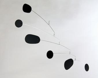 Bl(ink) Black Mobile | Midcentury Modern | Metal Mobile