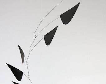 black beauty - hanging art mobile