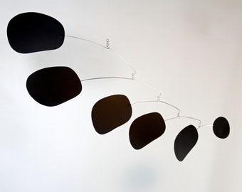 Bubblicious in Tar Black Mobile   Hanging Art Mobile