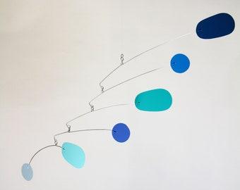 Am I Blue Mobile | Hanging Art Sculpture | Metal Mobile