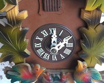 Vintage Black Forest Clock Cuckoo - In original box from 1970s - Germany Schwarzwald-Uhren