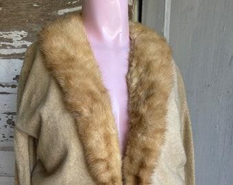 Vintage Cardigan Sweater - Cashmere and Mink Desperately Distressed, Grunge Halloween Costume Primitive