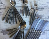 Vintage Gorham Hacienda Flatware - Iced Tea Spoons Knife Stainless Midcentury Flatware 35 Pieces - CHOICE