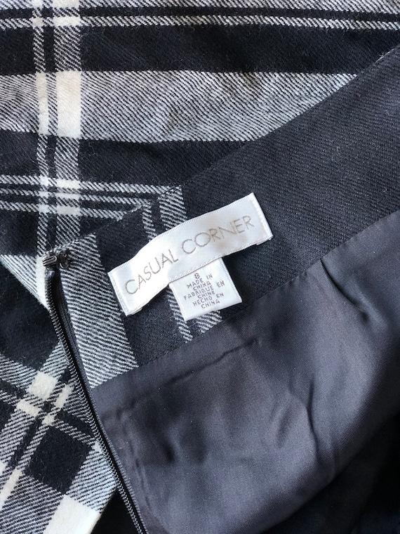 Vintage Skirt Plaid Wool Maxi Length - Size 8 Med… - image 10