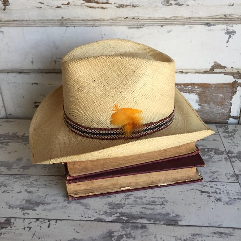 Vintage Resistol Genuine Stagecoach Cowboy Hat Long Oval 7  8700009d87