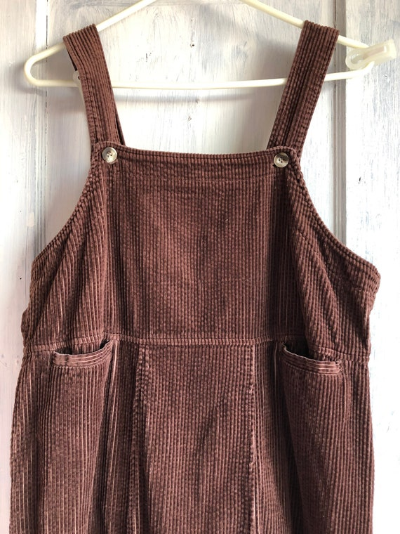 90s Vintage Corduroy maxi dress medium large