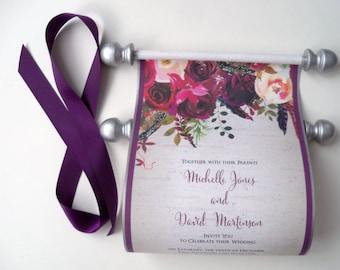 handmade wedding invitations scroll by artfulbeginnings on etsy