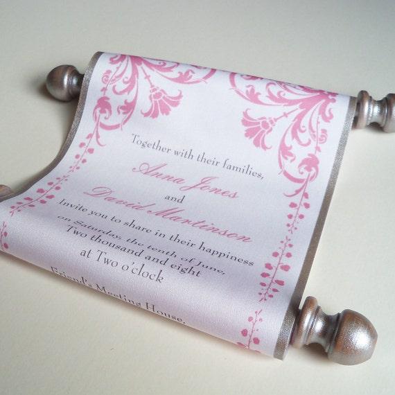 Fairytale Wedding Invitation Wedding Invitation Scroll With Etsy