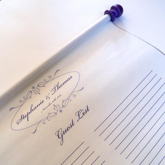 alternative wedding guest book scroll wedding guest book guest etsy