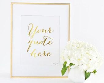 Custom Quote Print, Custom Calligraphy Quote Art Print, Custom Quote Wall Art, Custom Art Print