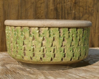5 x 4 inch Succulent planter with drainage hole/ One-of-a -kind / 24-e