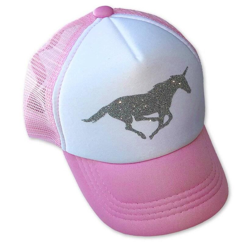51812a94e Silver Glitter Unicorn Infant/Toddler Trucker Hat