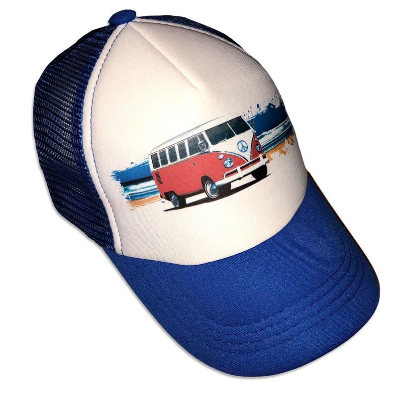 b886dd405 Beach Scene Surf VW Surf Van Infant/Kids Trucker Hat