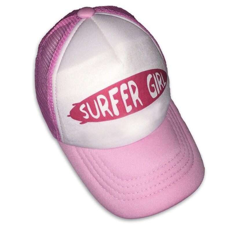 b7a817741 Surfer Girl Surfboard Pink Infant/Kids Trucker Hat