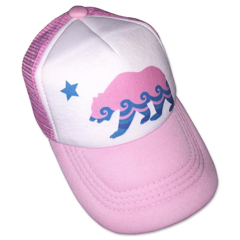 e59609e9a California Bear Pink Infant/Kids Trucker Hat