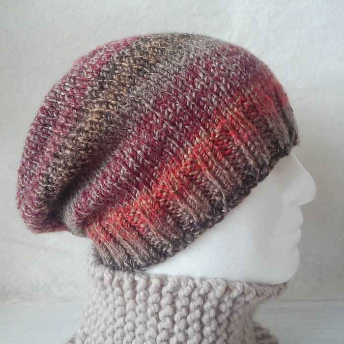 MENS KNITTING PATTERN Slouchy Beanie Hat Pattern Gift for ...
