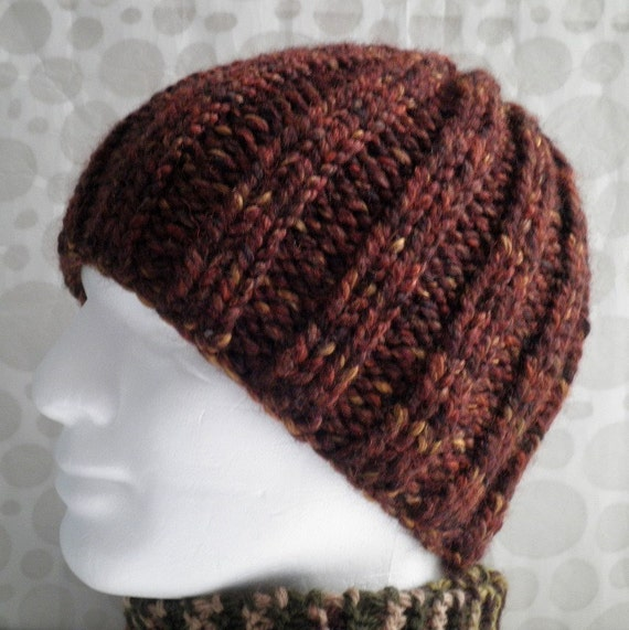Knitting Pattern Rusticomans Simple Chunky Beanie Pattern Etsy
