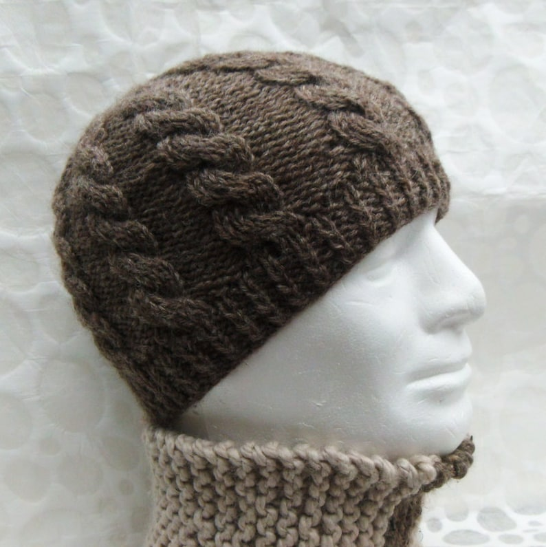 bc6c9ea66f2 KNITTING PATTERN Cable Knit Fishermans Hat Pattern Digital
