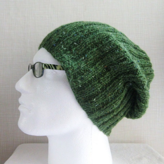 Knitting Pattern Mens Slouch Hat Easy Knitting Pattern Knit