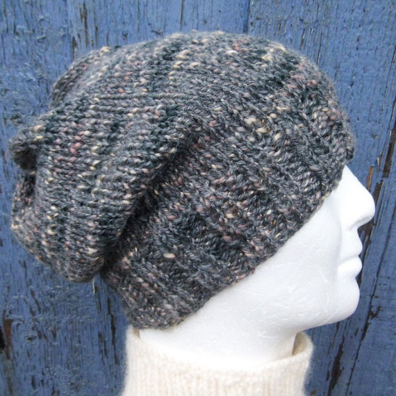 39f4f9baf4c SLOUCHY HAT PATTERN Mens Beanie Knitting Pattern Gift for Men