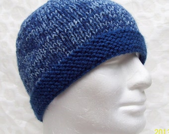 KNITTING PATTERN/ TED Mans Simple Knit Hat Pattern/  Easy Beanie Pattern/ Easy Knit Mans Beanie/ Quick Knit Mans Hat/Knit Straight