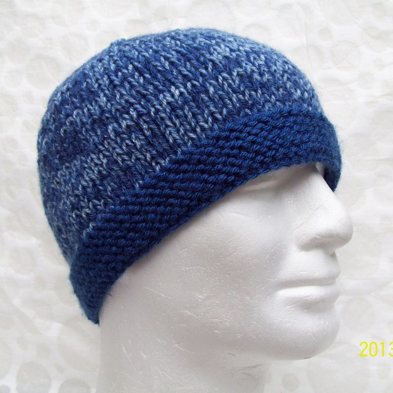a9cd8ae55fd KNITTING PATTERN Mens Simple Knit Hat Pattern Easy Beanie