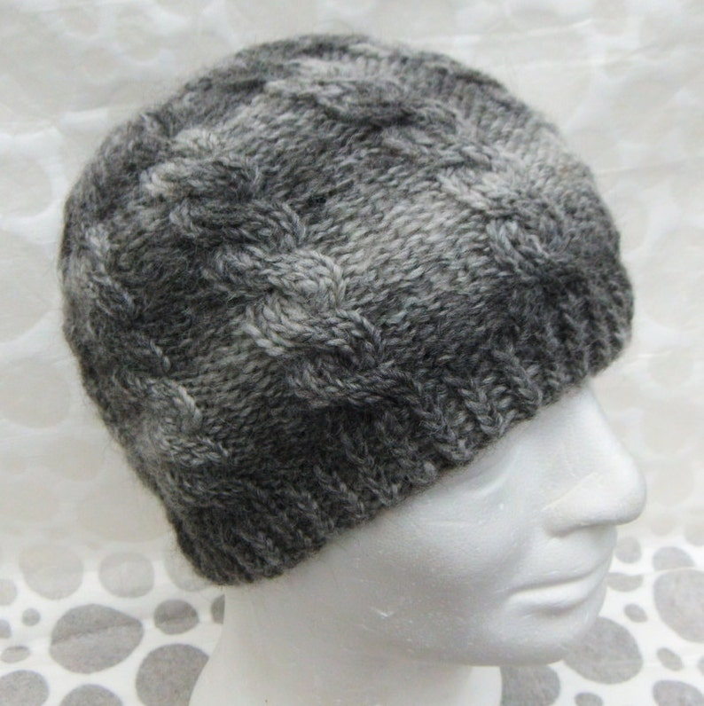 Fishermans Hat Pattern Cable Knit Beanie Mans Cable Hat  e2316e4fcd3