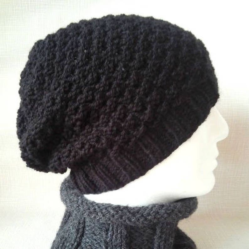 4d9aa0da8cc Mens Slouchy Beanie Pattern Slouch hat KNITTING PATTERN Knit