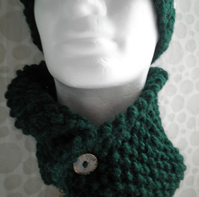 Knitting Pattern Archie Mans Short Scarf Cowl Easy Simple Etsy