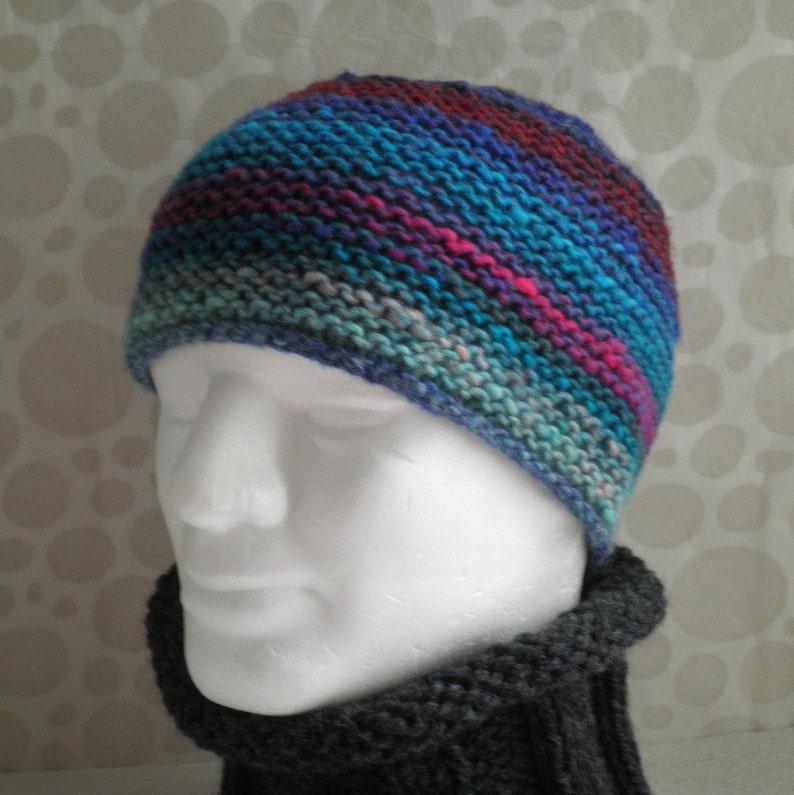 2a662bb07fa KNITTING Pattern  SANTA FE  Mans Hat in Luxury Noro Wool Knit