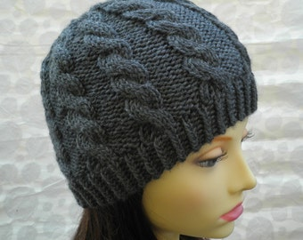 KNITTING PATTERN/INISHMOR Mans Cable Hat Pattern / Irish Fishermans Hat /Tweed Wool Hat/Cable Knit Beanie Pattern/Mans Cable Beanie/Aran Hat