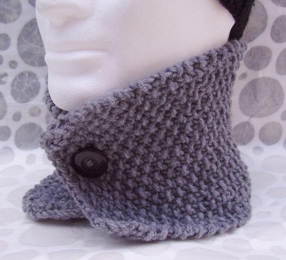 Mens Knit Cowl Pattern Handmade Scarf Knitting Pattern Digital Etsy