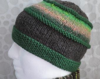 KNITTING PATTERNS Boho Beanie Handmade Dad Hat Gift for Him Husband Boyfriend Birthday Gift Instant Digital Download Unique Knit Hat VERMONT