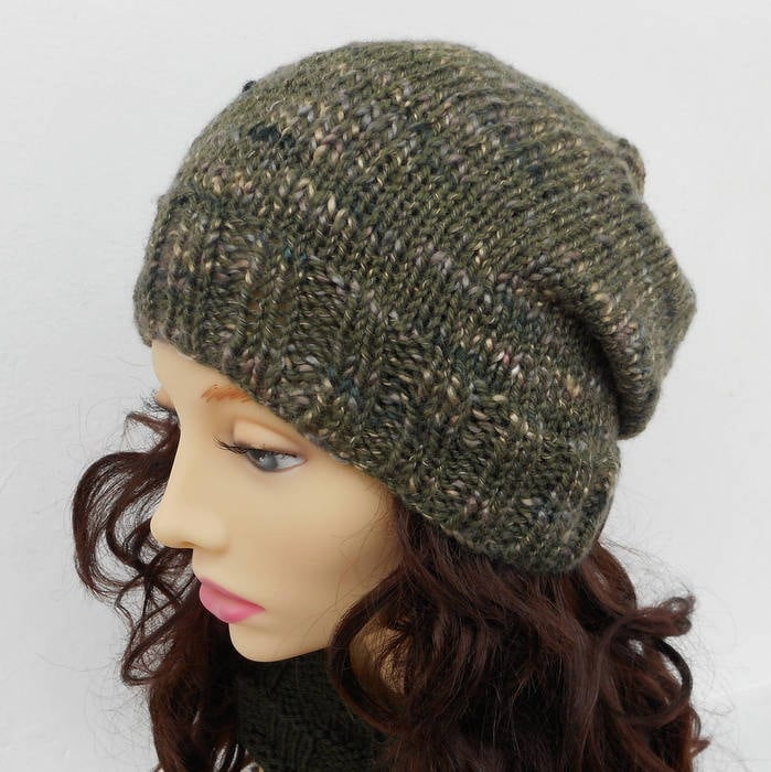 Mens Easy Hat Pattern Simple Slouchy Beanie KNITTING ...