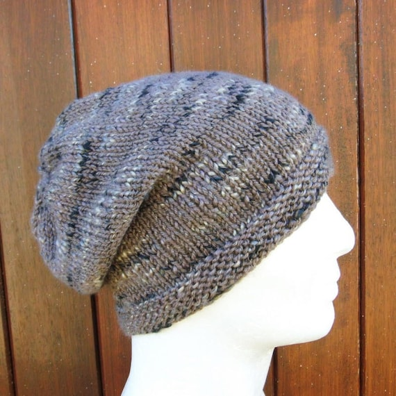 33ee2046a21 Slouch Beanie Pattern Mens Slouchy Hat KNITTING PATTERN Gift