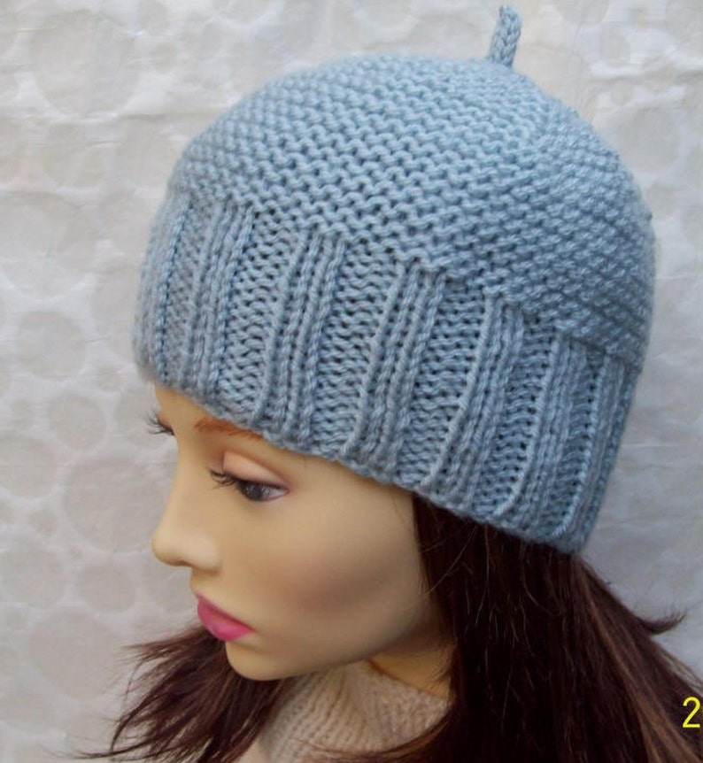4f3705034c1 KNITTING PATTERN  BEAU Mans Simple Beanie Easy Mans Beanie