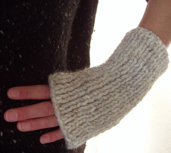 Quick Knit Gloves Mens Fingerless Gloves Knitting Pattern Easy Etsy
