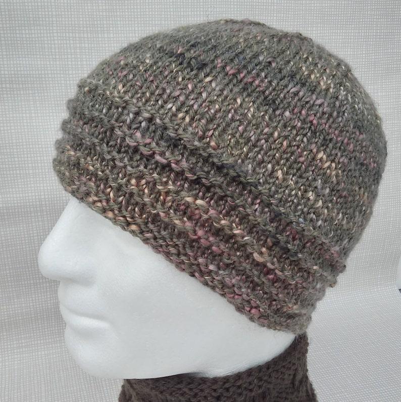 b0fd38f5a5a KNITTING PATTERN Mans Handknit Beanie Pattern Knit in the