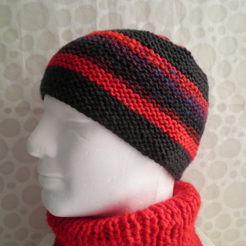 e7fce38808b KNITTING Pattern SANTA FE Mans Hat Pattern Aran Noro Wool Knit