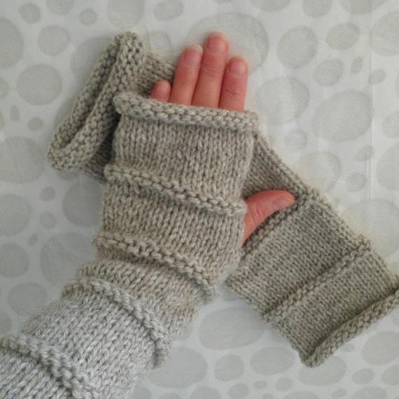 Knitting Patternoslo Mens Glove Patternfingerless Gloves For Etsy