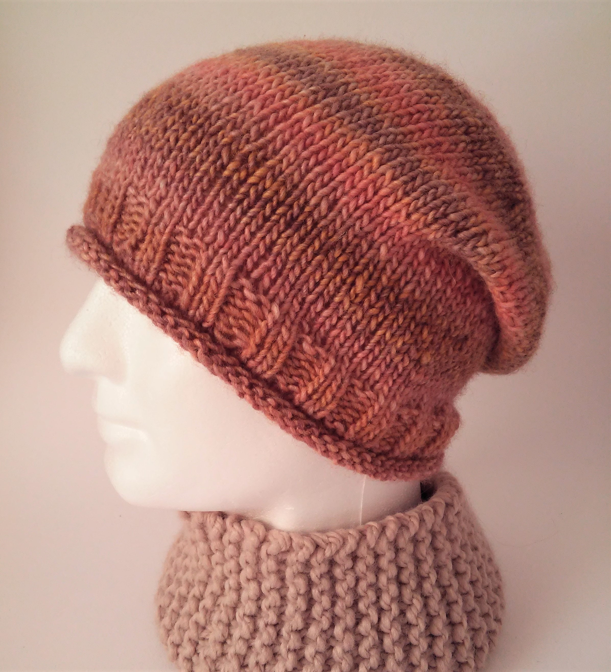 Mens Easy Hat Pattern Simple Slouchy Hat KNITTING PATTERN Gift  7d21967f937
