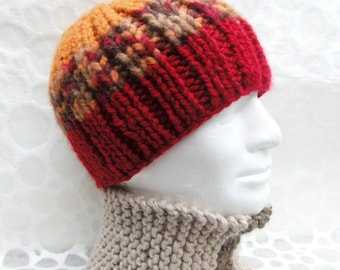 KNITTING PATTERN Mens Beanie Chunky Yarn Gift for Men Digital Download Dad Hat Boho Gift for Boyfriend Birthday Husband Gift Knit HatBASIL