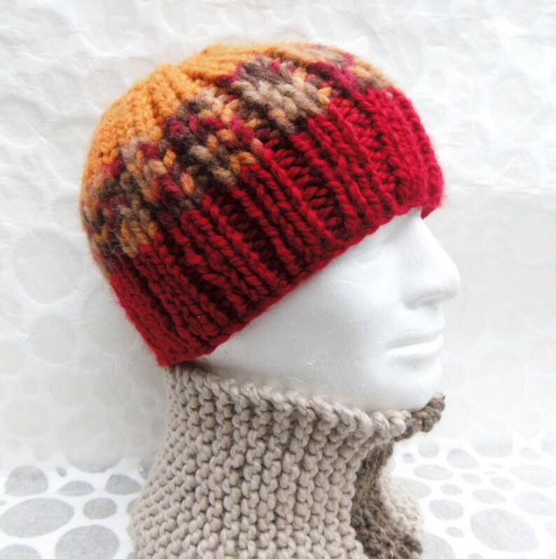 530bb79cdbd KNITTING PATTERN Chunky Hat Mens Chunky Quick Knit Beanie Gift