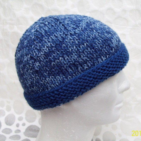 Mens Skullcap Pattern Simple Beanie KNITTING PATTERN Gift for  a96898fa0c06