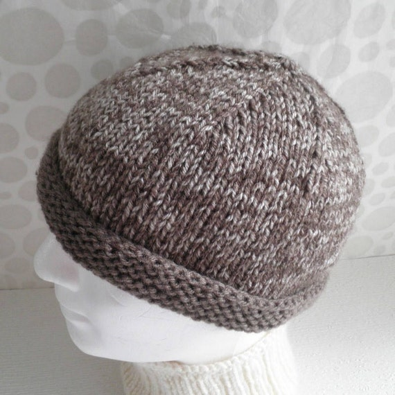 Simple Beanie Hat Pattern Mens Easy Skullcap Knitting Pattern Etsy