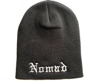 03a46a78d8e Embroidered Beanie - Custom Knit beanie - Nomad Cap - Custom Knit hat