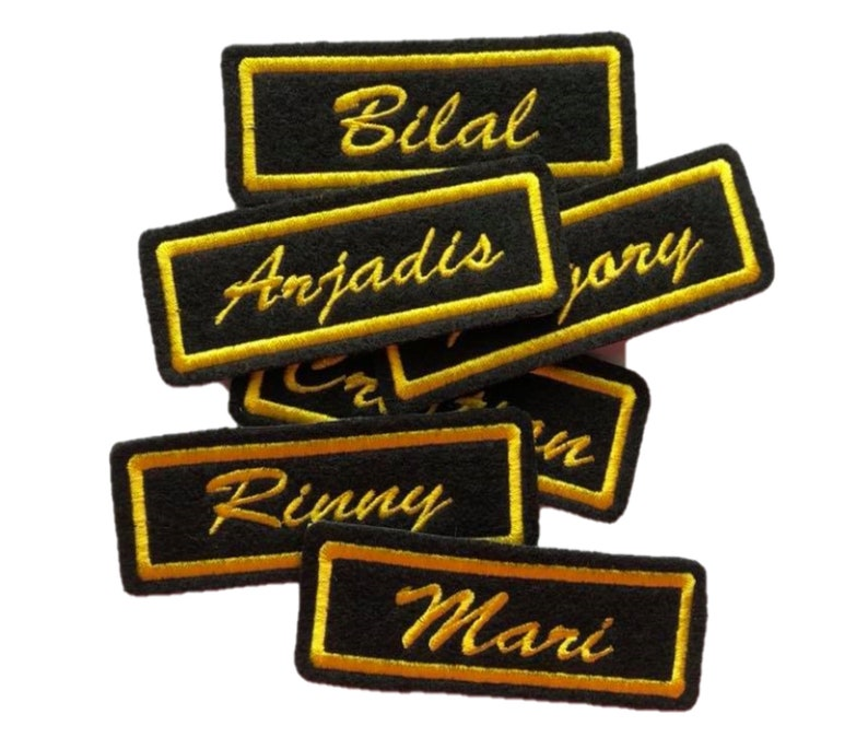 Custom Patches - Custom Name Patch - Iron on Names - Motorcycle Patches For  Jackets